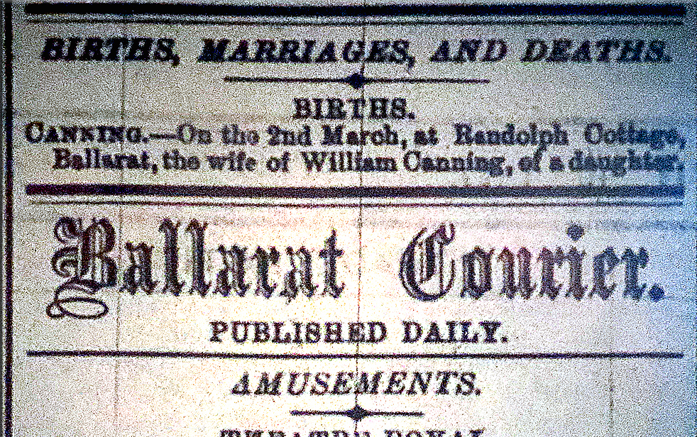 Ballarat Courier Tuesday 6 March 1877