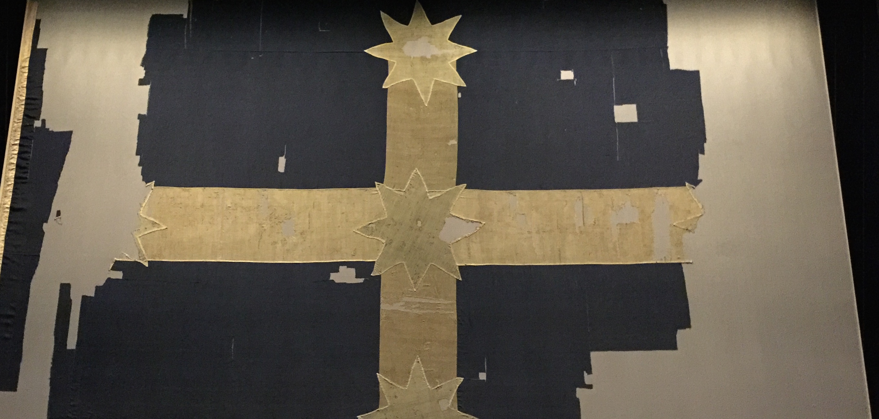 Original Eureka Flag on display in the MADE