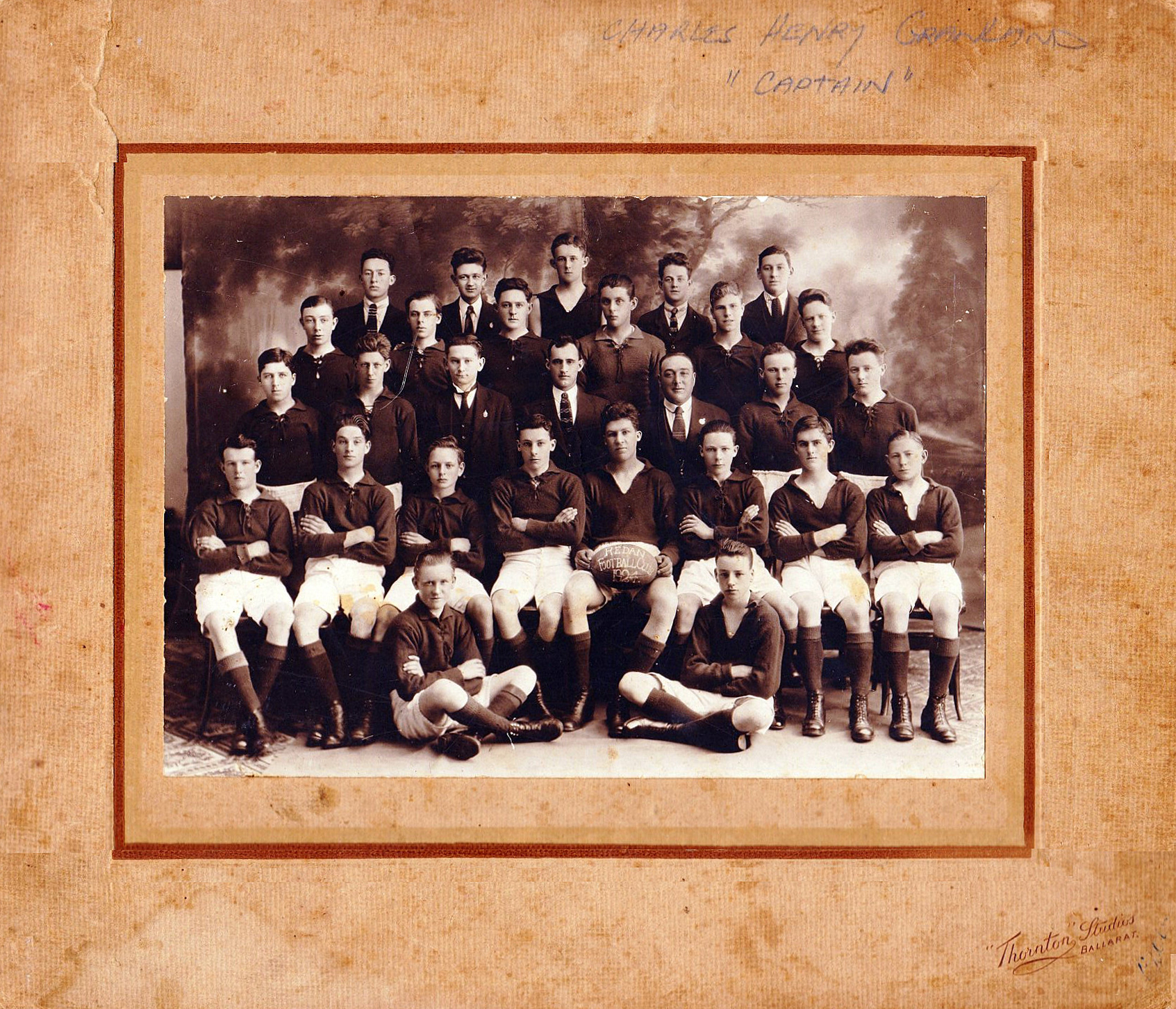 Redan Football Club Third Eighteens 1924