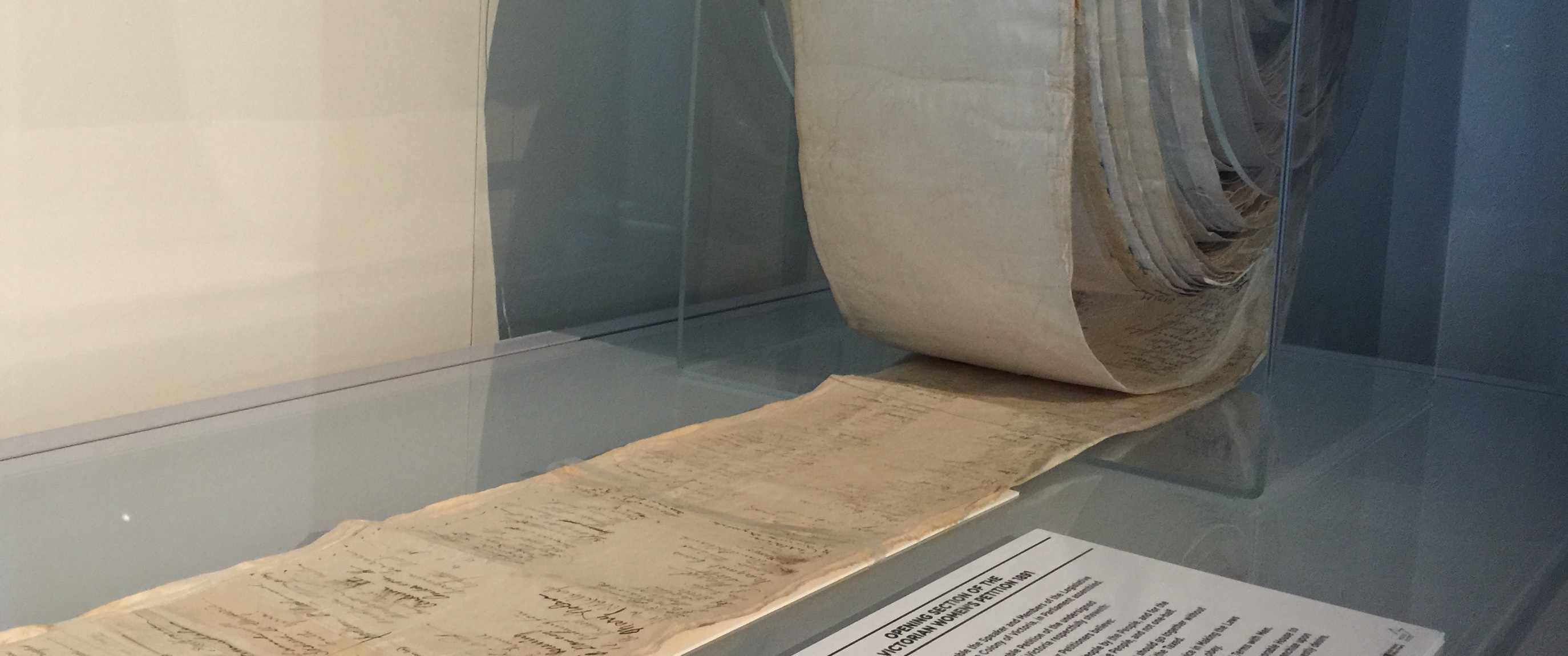 Suffrage Petition on Display at M.A.D.E - BDGS Photo